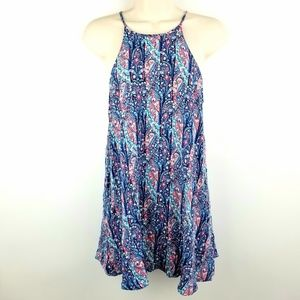 Womens American Eagle Paisley Mini Babydoll Dress